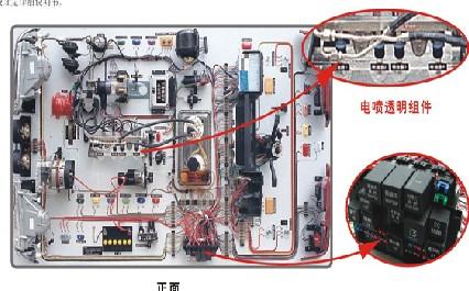 仿真电器电路实习台(含电喷实验系统)汽车电器综合实训台,汽车教学