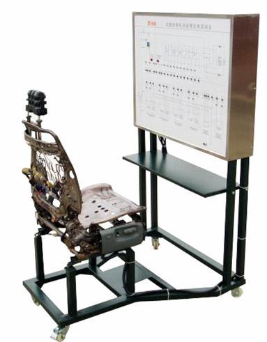 面板上绘有完整的电动座椅系统的电路图,设置有检测端子,可通过仪器