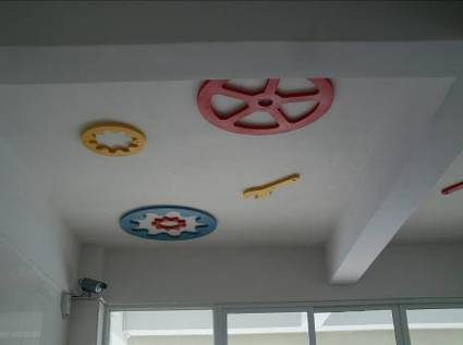 幼儿园科学发现室机械齿轮装饰顶棚